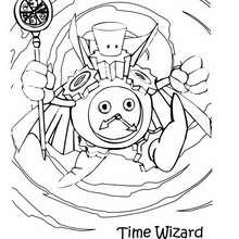 Coloriage de Yu-Gi-Oh : Time Wizard - Coloriage - Coloriage MANGA - Coloriage Yu-Gi-Oh!