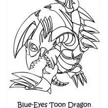 Coloriage de Yu-Gi-Oh : Toon Dragon - Coloriage - Coloriage MANGA - Coloriage Yu-Gi-Oh!