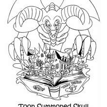Coloriage de Yu-Gi-Oh : Toon Summoned Skull