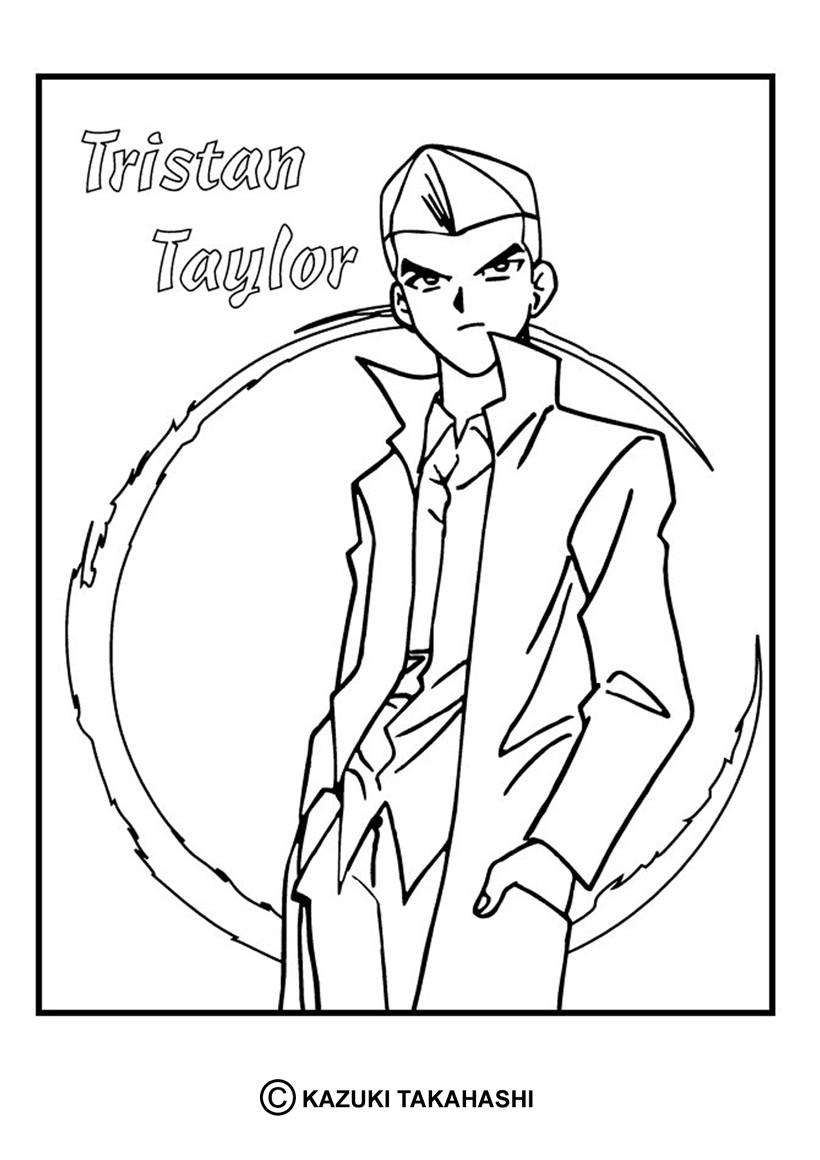 Coloriage de Yu-Gi-Oh : Tristan Taylor