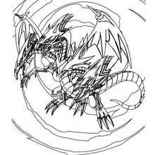 Coloriage de Yu-Gi-Oh : Ultimate Dragon - Coloriage - Coloriage MANGA - Coloriage Yu-Gi-Oh!