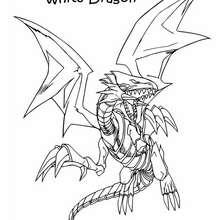 Coloriage de Yu-Gi-Oh : White Dragon 1 - Coloriage - Coloriage MANGA - Coloriage Yu-Gi-Oh!