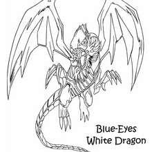 Coloriage de Yu-Gi-Oh : White Dragon 2