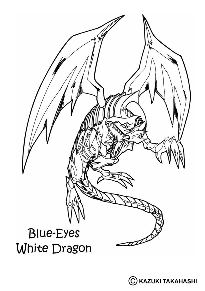 Coloriages coloriage de yu gi oh white dragon 3 fr - Imprimer dragon ...