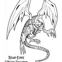 Coloriage de Yu-Gi-Oh : White Dragon 3 - Coloriage - Coloriage MANGA - Coloriage Yu-Gi-Oh!