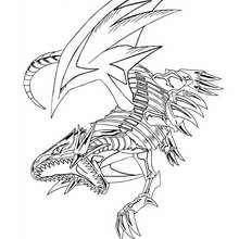Coloriage de Yu-Gi-Oh : White Dragon 4 - Coloriage - Coloriage MANGA - Coloriage Yu-Gi-Oh!