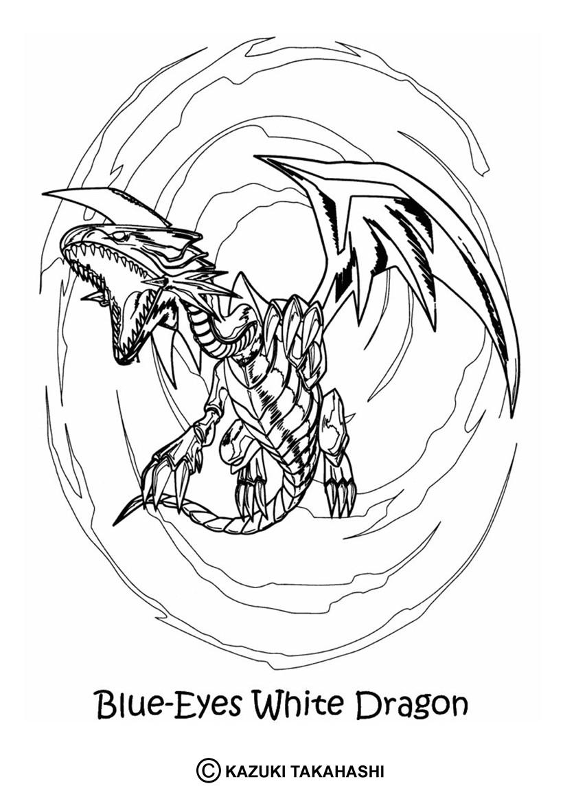 Coloriages coloriage de yu gi oh white dragon 5 - Coloriage de yu gi oh ...