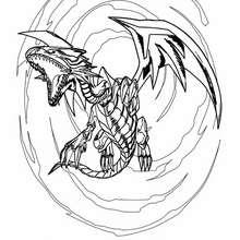 Coloriage de Yu-Gi-Oh : White Dragon 5
