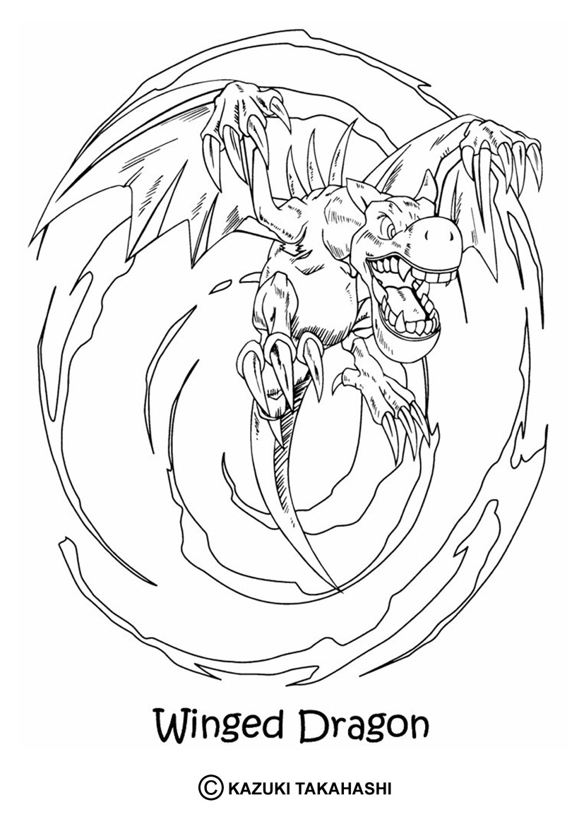 Coloriage de Yu-Gi-Oh : Winged Dragon