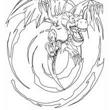 Coloriage de Yu-Gi-Oh : Winged Dragon - Coloriage - Coloriage MANGA - Coloriage Yu-Gi-Oh!