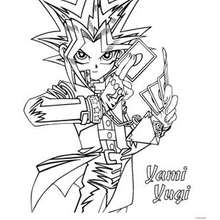 Coloriage de Yu-Gi-Oh : Yami Yugi