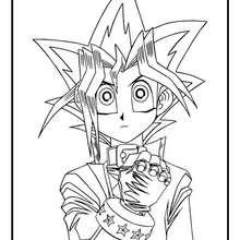 Coloriage de Yu-Gi-Oh 4 - Coloriage - Coloriage MANGA - Coloriage Yu-Gi-Oh!