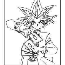Coloriage de Yu-Gi-Oh 6 - Coloriage - Coloriage MANGA - Coloriage Yu-Gi-Oh!