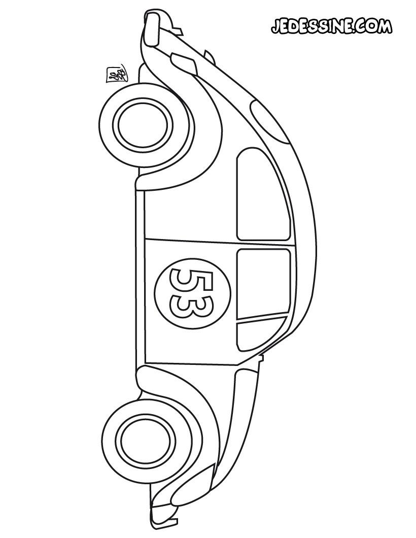 Coloriage Coccinelle Volkswagen.Coccinelle La Voiture