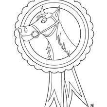 Coloriage : Médaille de compétition d'équitation
