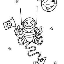 Coloriage d'un cosmonaute dans l'espace - Coloriage - Coloriage A IMPRIMER - Coloriage A IMPRIMER ESPACE