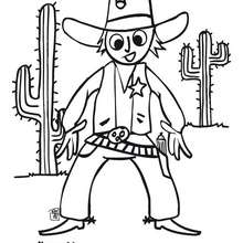 Coloriage d'un Cow Boy - Coloriage - Coloriage GRATUIT - Coloriage GRATUIT WESTERN - Coloriage COW BOY