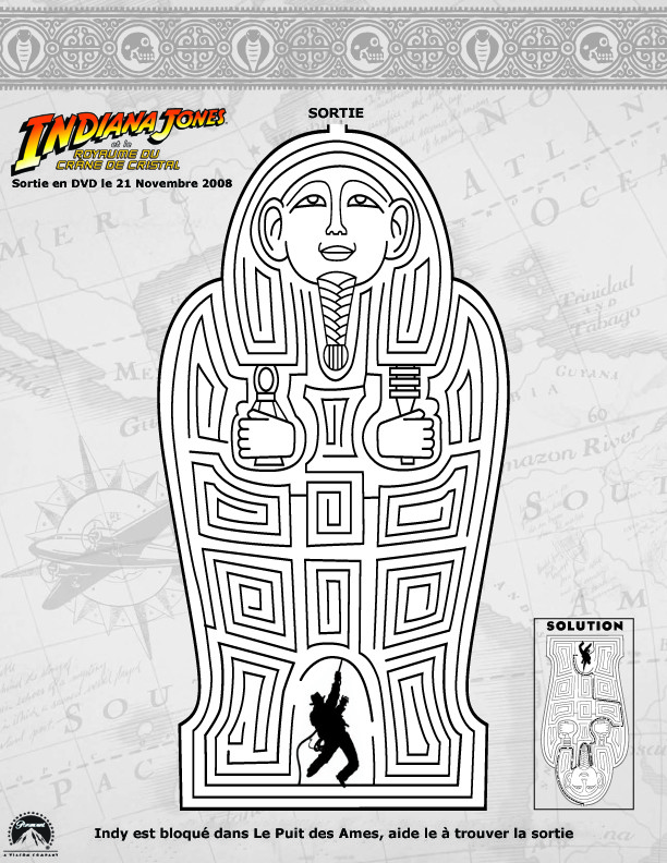 Jeux de la momie d 39 indiana jones - Coloriage indiana jones ...