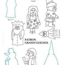 Patron Grand Guignol 2 - Activités - PATRONS A IMPRIMER