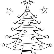 Coloriage d'un sapin de Noël - Coloriage - Coloriage FETES - Coloriage NOEL - Coloriage SAPIN DE NOEL - Coloriages SAPIN DE NOEL