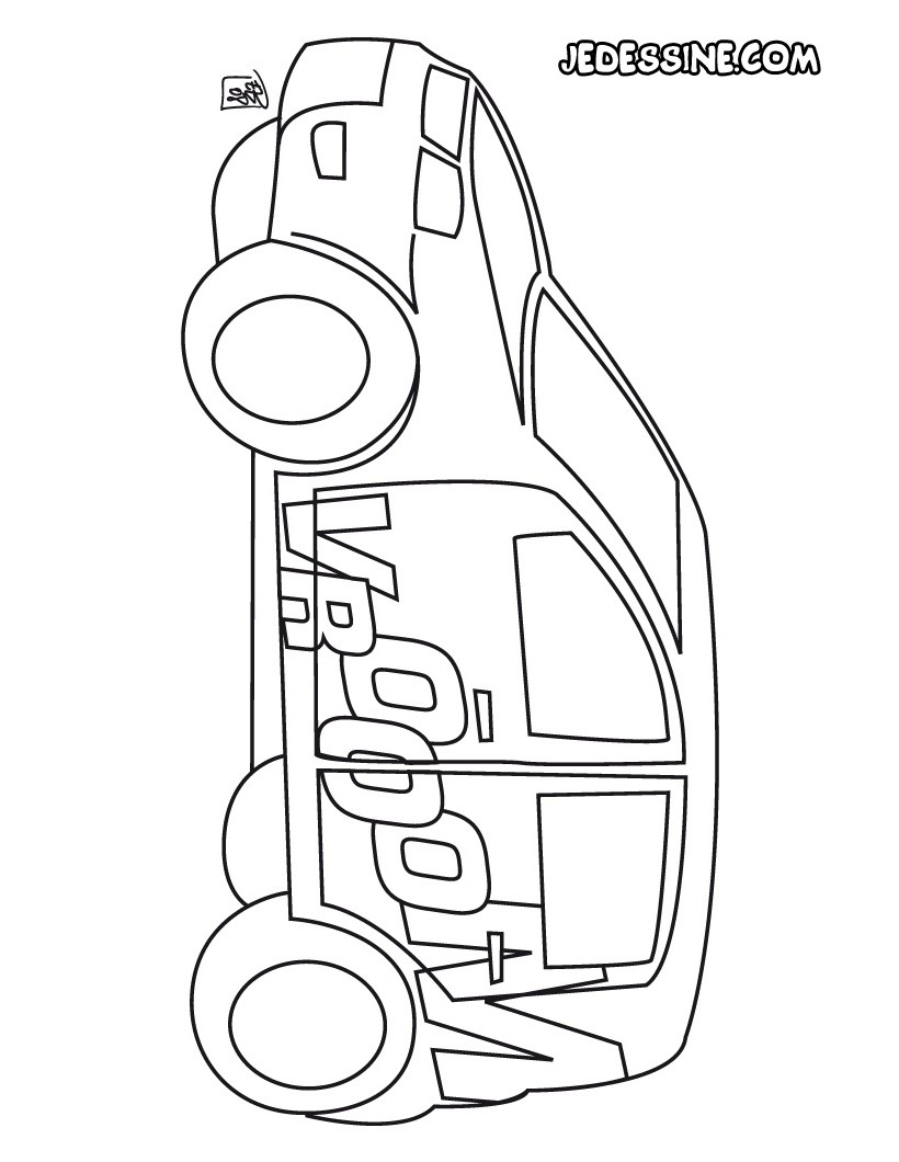 Coloriage voiturerally - Coloriage voiture ...