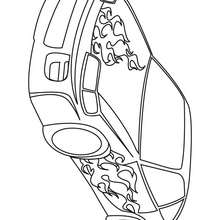 Coloriage d'une voiture tuning - Coloriage - Coloriage VEHICULES - Coloriage VOITURE - Coloriage VOITURE TUNING