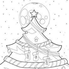 Sapin de Noël au clair de lune