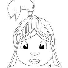 Coloriage d'une tête de chevalier - Coloriage - Coloriage GRATUIT - Coloriage GRATUIT TETES DE PERSONNAGES