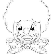 Coloriage d'une tête de clown
