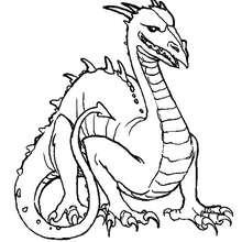 Coloriage d'un dragon à tête d'oiseau - Coloriage - Coloriage FETES - Coloriage NOUVEL AN CHINOIS - Coloriage DRAGON CHINOIS A IMPRIMER