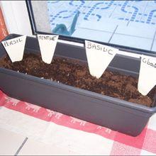 Fabrique ta jardinière d'herbes aromatiques.