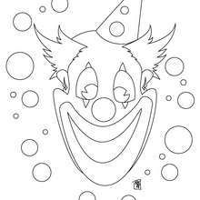 Coloriage d'un visage de clown - Coloriage - Coloriage GRATUIT - Coloriage GRATUIT CIRQUE - Coloriage CLOWN