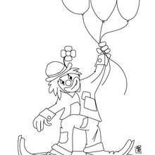Coloriage d'un clown avec des ballons - Coloriage - Coloriage GRATUIT - Coloriage GRATUIT CIRQUE - Coloriage CLOWN