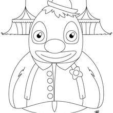 Coloriage d'un clown pingouin - Coloriage - Coloriage GRATUIT - Coloriage GRATUIT CIRQUE - Coloriage CLOWN