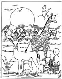 Dessin de savane - Savane dessin ...