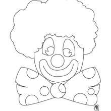 Coloriage d'un clown au noeud papillon - Coloriage - Coloriage GRATUIT - Coloriage GRATUIT CIRQUE - Coloriage CLOWN