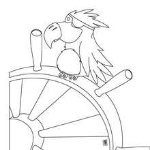 Coloriage d'un perroquet pirate - Coloriage - Coloriage GRATUIT - Coloriage GRATUIT PIRATE - Coloriage PIRATE GRATUIT