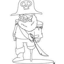 Coloriage d'un pirate avec une jambe de bois - Coloriage - Coloriage GRATUIT - Coloriage GRATUIT PIRATE - Coloriage PIRATE