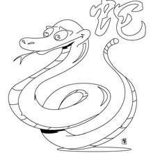 Coloriage du zodiaque chinois le Serpent