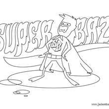 Coloriage du héros Super Baz - Coloriage - Coloriage SUPER HEROS - Coloriage SUPER HEROS GRATUIT