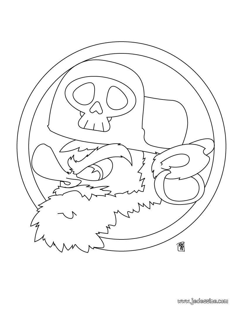 Coloriage d'une tête de pirate