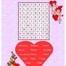 Mots fléchés de la Saint-Valentin N°1 - Jeux - Jeux des fêtes - Jeux de la Saint-Valentin - Jeux des mots fléchés Saint Valentin