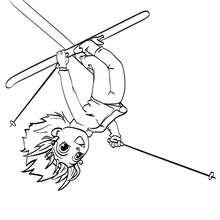 Coloriage d'une acrobatie d'Ana