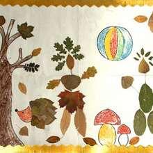Dessin d'enfant : L'automne