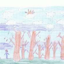 La saison d'automne - Dessin - Dessin PAYSAGES - Dessin AUTOMNE