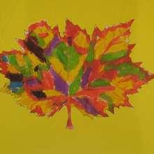 Feuille d'automne - Dessin - Dessin NATURE - Dessin FEUILLE ARBRE