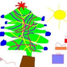 Sapin de Noël - Dessin - Dessin FETES - Dessin NOEL - Dessin SAPIN DE NOEL