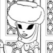 Coloriage en ligne de Ana déguisée pour le Carnaval