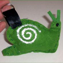 Le porte-clé escargot
