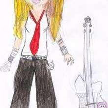 Dessin d'enfant : Avril Lavigne